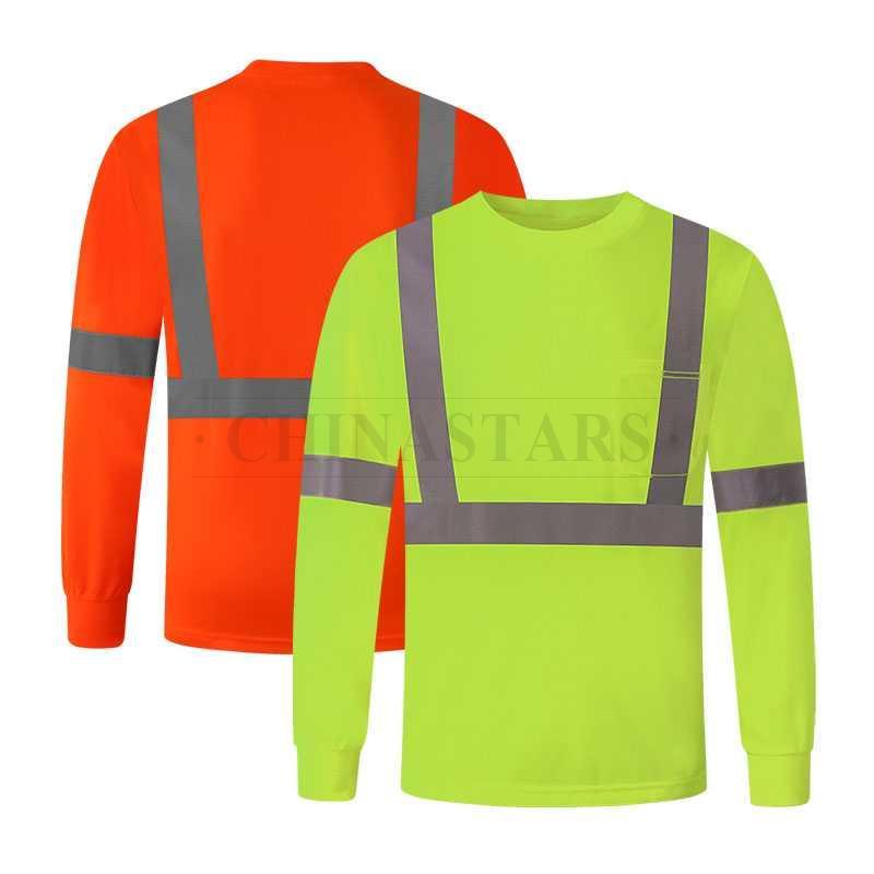 ANSI 107 & EN 20471 Class 2 high visibility long sleeve shirt