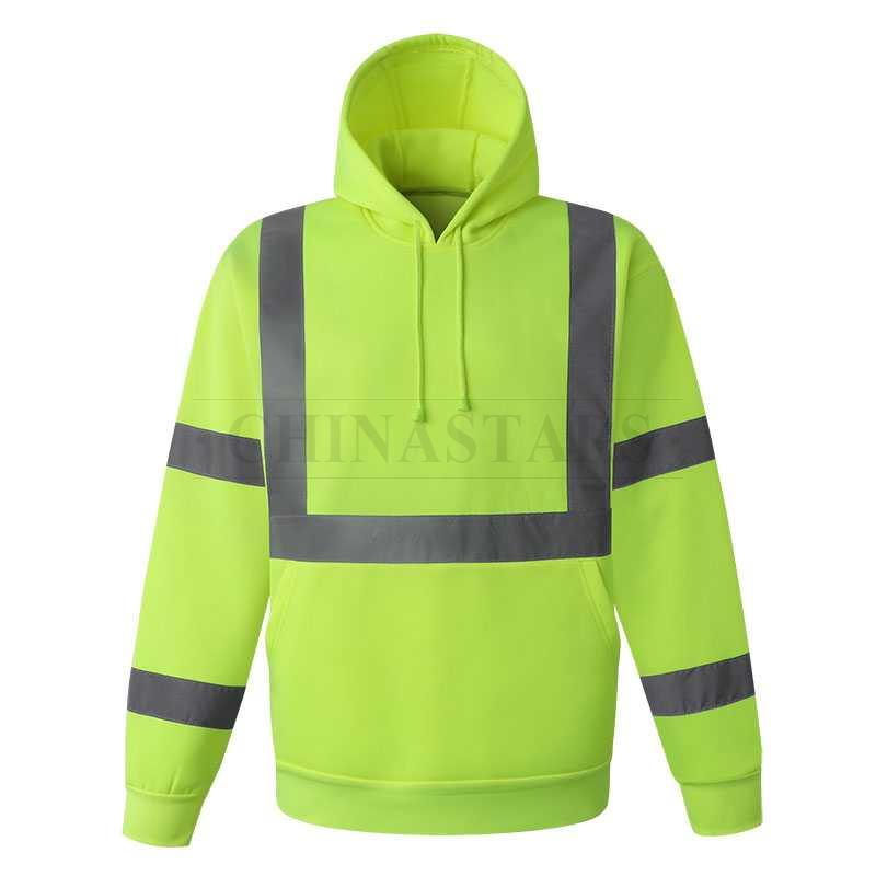 100% polyester fleece fabric reflective sweatshirt