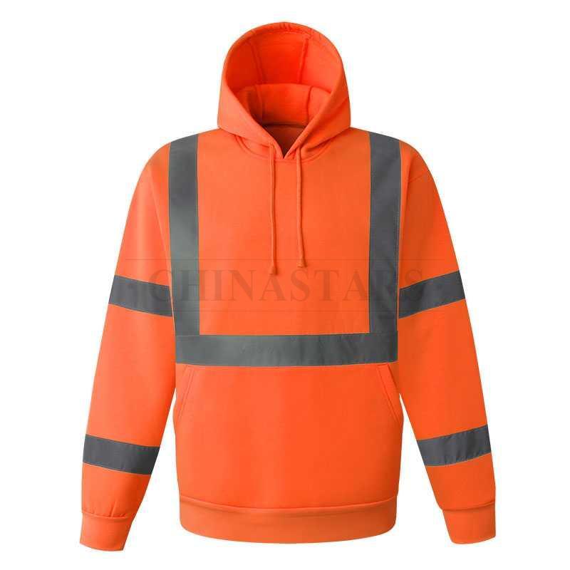100% polyester fleece fabric reflective sweatshirt