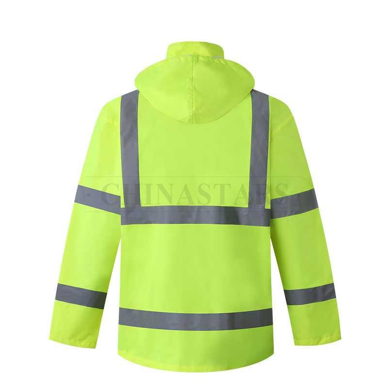 ANSI 107 & EN 20471 Class 3 reflective raincoat