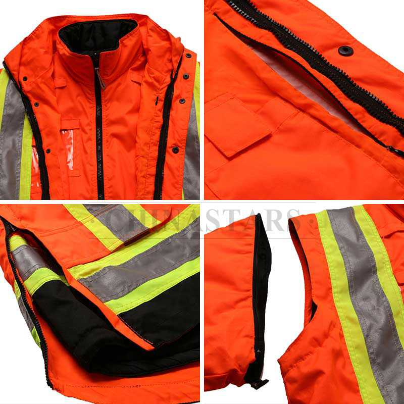 X back hi-vis 4-in-1 safety reflective jacket