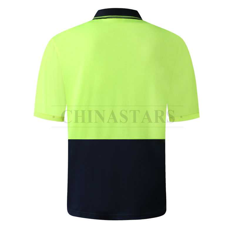Hi vis two tone safety short sleeve polo shirt