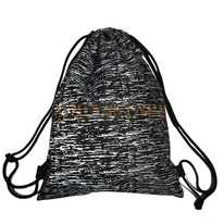 Custom Reflective Pattern Printing Drawstring Backpack
