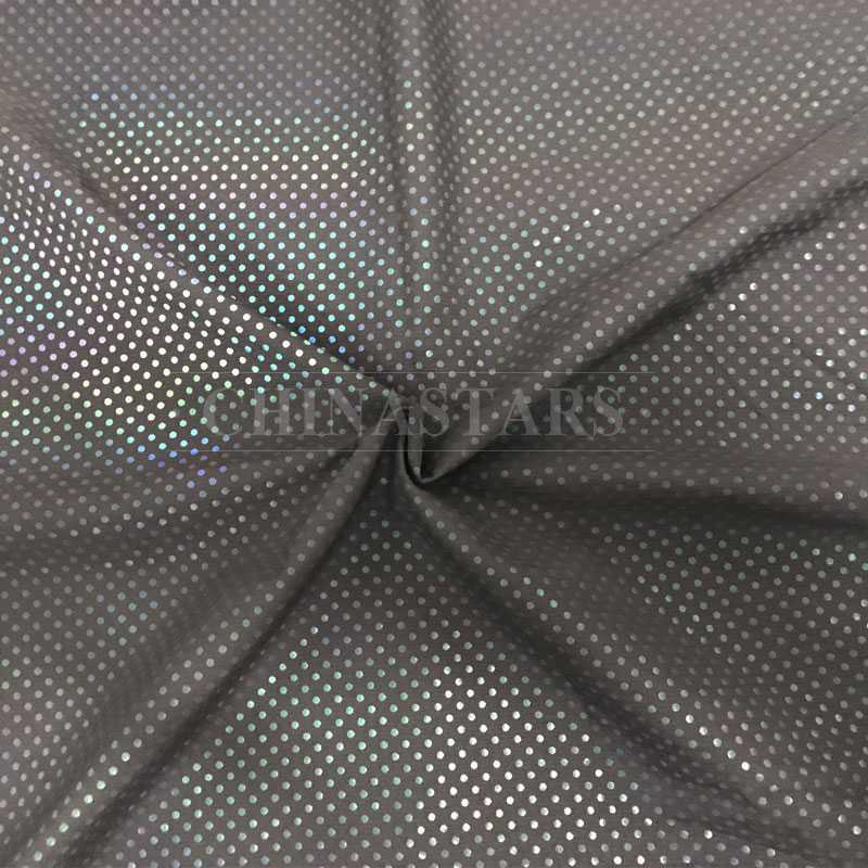 iridescent reflective printing fabric with Small-dot pattern