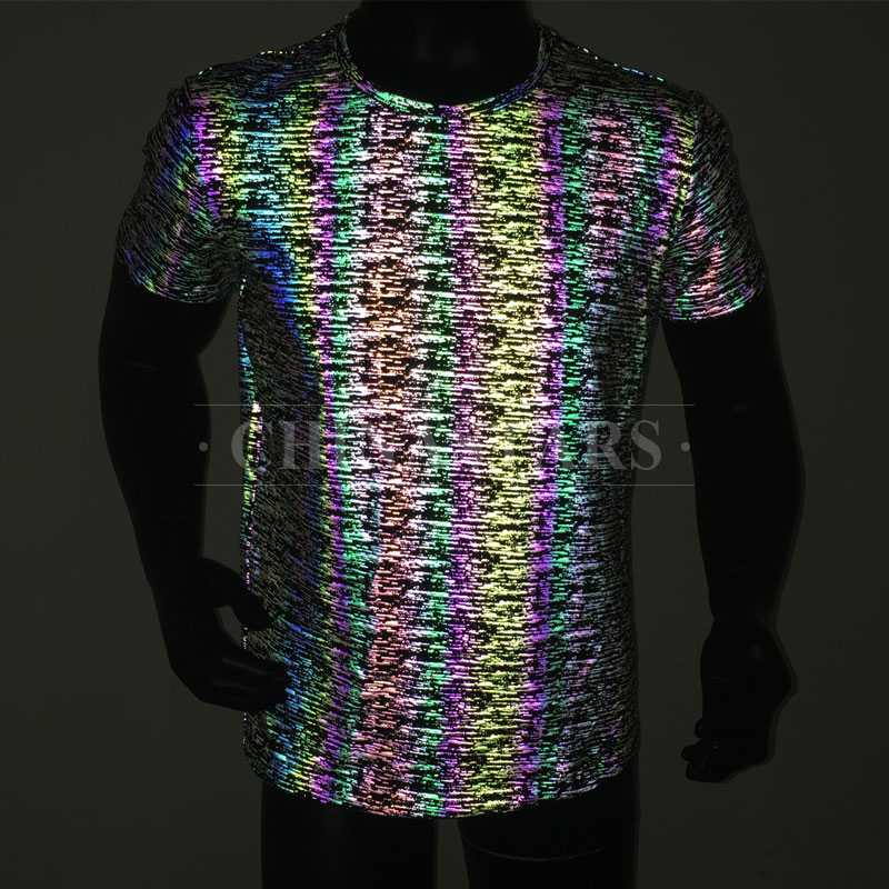 rainbow reflective printing fabric for clothing