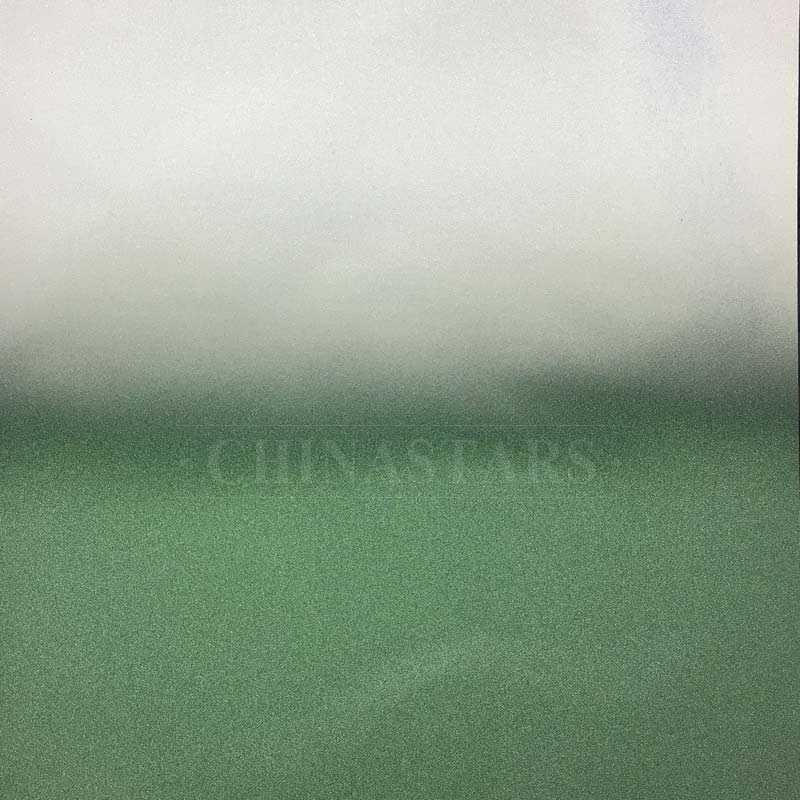 Grey- green Gradient color reflective fabric