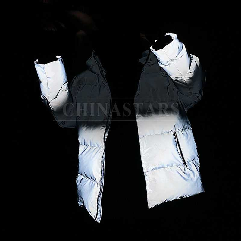 Grey-black Gradient reflective fabric