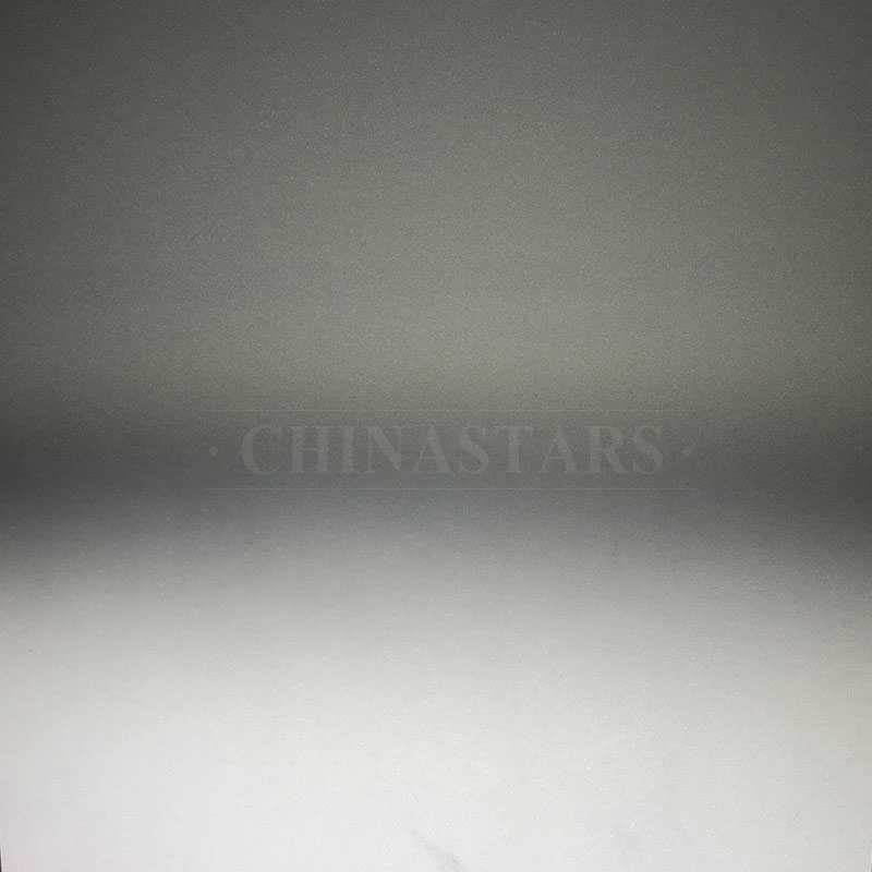 Grey-white color changing reflective fabric