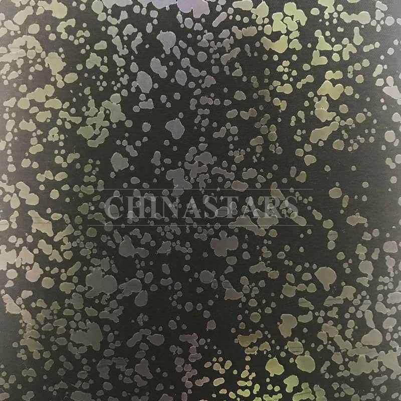 Irregular dots iridescent printing reflective fabric