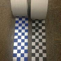 Warning checkered reflective tape for clothing