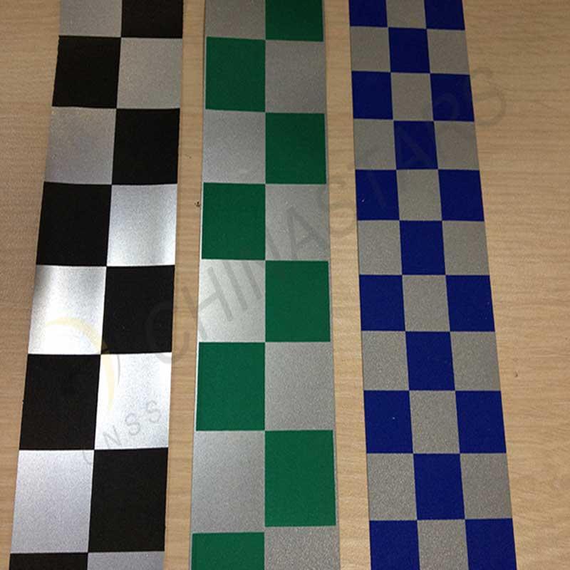 Checkerboard reflective tape