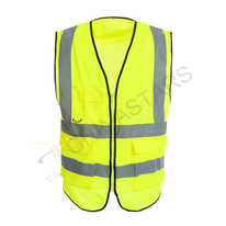 Safety vest with multifunctional pockets 2 colors available