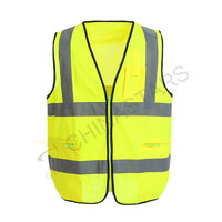 High visibilty yellow reflective vest with pockets