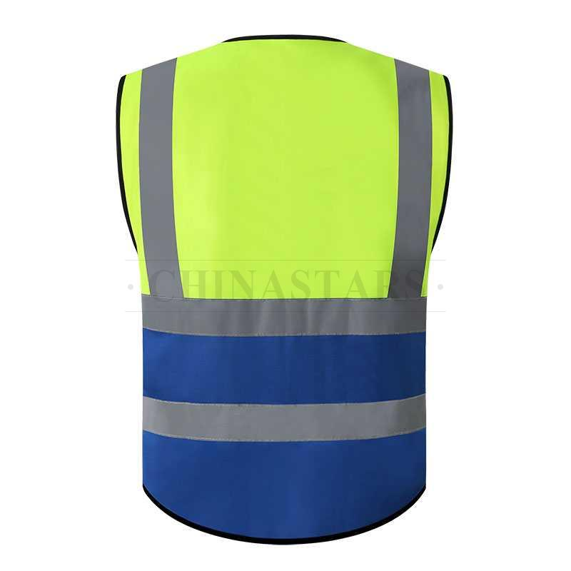 Dual color safety vest with pockets