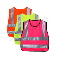 High visibilty colorful children reflective vest