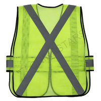 EN20471 Mesh safety vest with reflective tape
