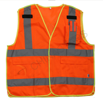 Hi viz mesh safety vest with pocket