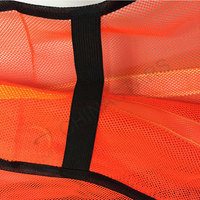 Mesh reflective safety vest with velcro
