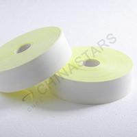 Flame retardant reflective tape yellow-silver-yellow