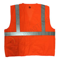 Orange EN ISO 20471 mesh safety vest