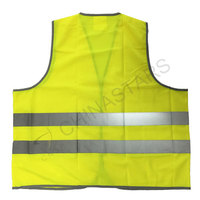 Reflective safety vest with reflective edgings