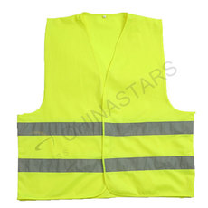 Reflective fabric safety vest 2 colors available