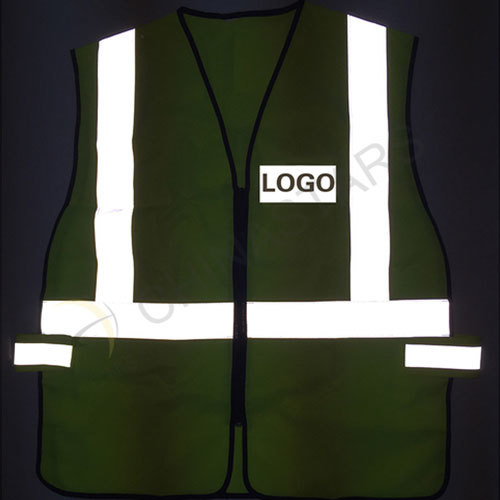 High visibility safety vest with velcro