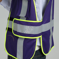Purple Non-rated safety vest with reflective tape