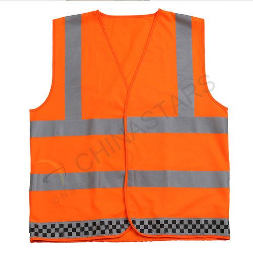 Customized orange reflective safety vest