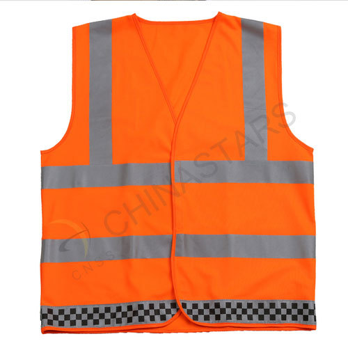 Customized orange reflective safety vest