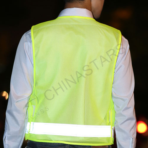 Reflective safety vest with multi pockets