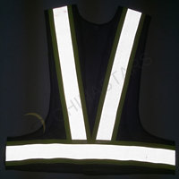 Reflective mesh vest with perforated reflective tape