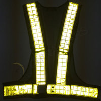 Mesh fabric reflective vest with prismatic tape
