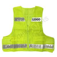 Multi pockets safety vest with prismatic tape