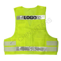 Multi pockets safety vest with prismatic tape