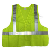 Reflective safety vest with reflective stripes