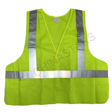Reflective safety vest with reflective stripes