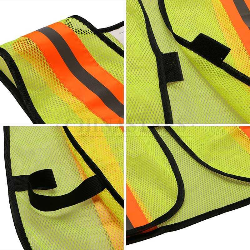 Color mesh fabric reflective safety vest