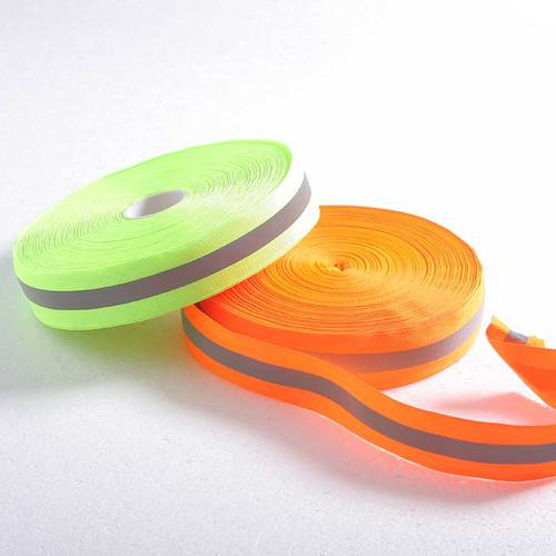 Iron-on reflective webbing tape