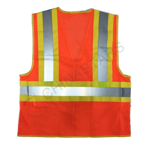 Csv 036 Mesh Fabric Safety Vest With Color Fabric
