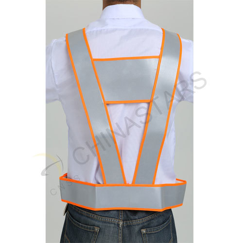 Reflective leather vest