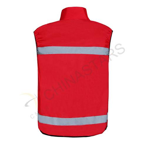 Red reflective sports vest