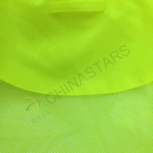Enhanced visibility reflective raincoat