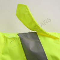 Highly reflective raincoat with mesh inner for workers