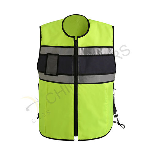 Fluorescent yellow reflective cycling vest