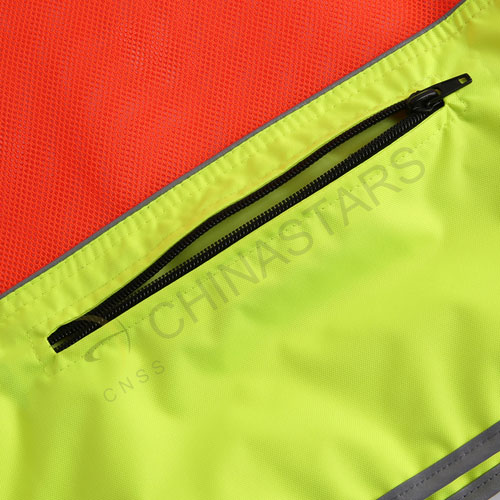 Hi-vis reflective vest for athelets