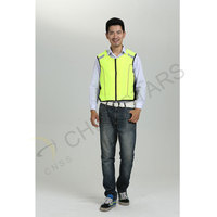 Hi-vis safety vest for cycling