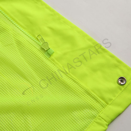 Weatherproof reflective raincoat with mesh lining