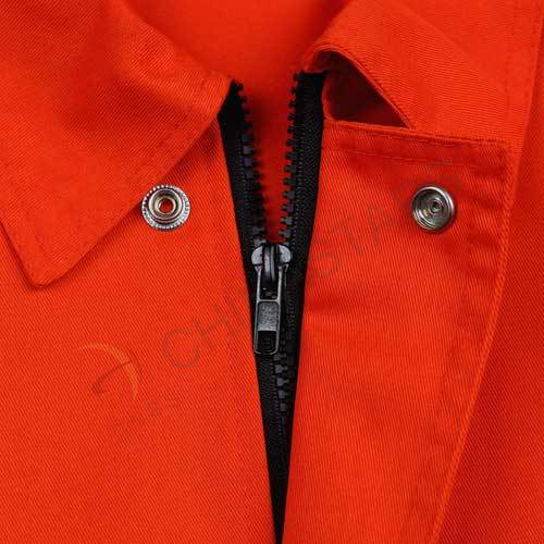 Reflective jacket in fluorescent orange