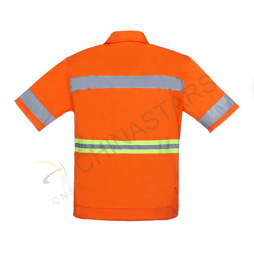 Short sleeve hi-vis reflective shirt
